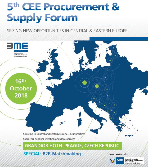 """Poziv za """"5th CEE Procurement & Supply Forum"""" u Pragu"""