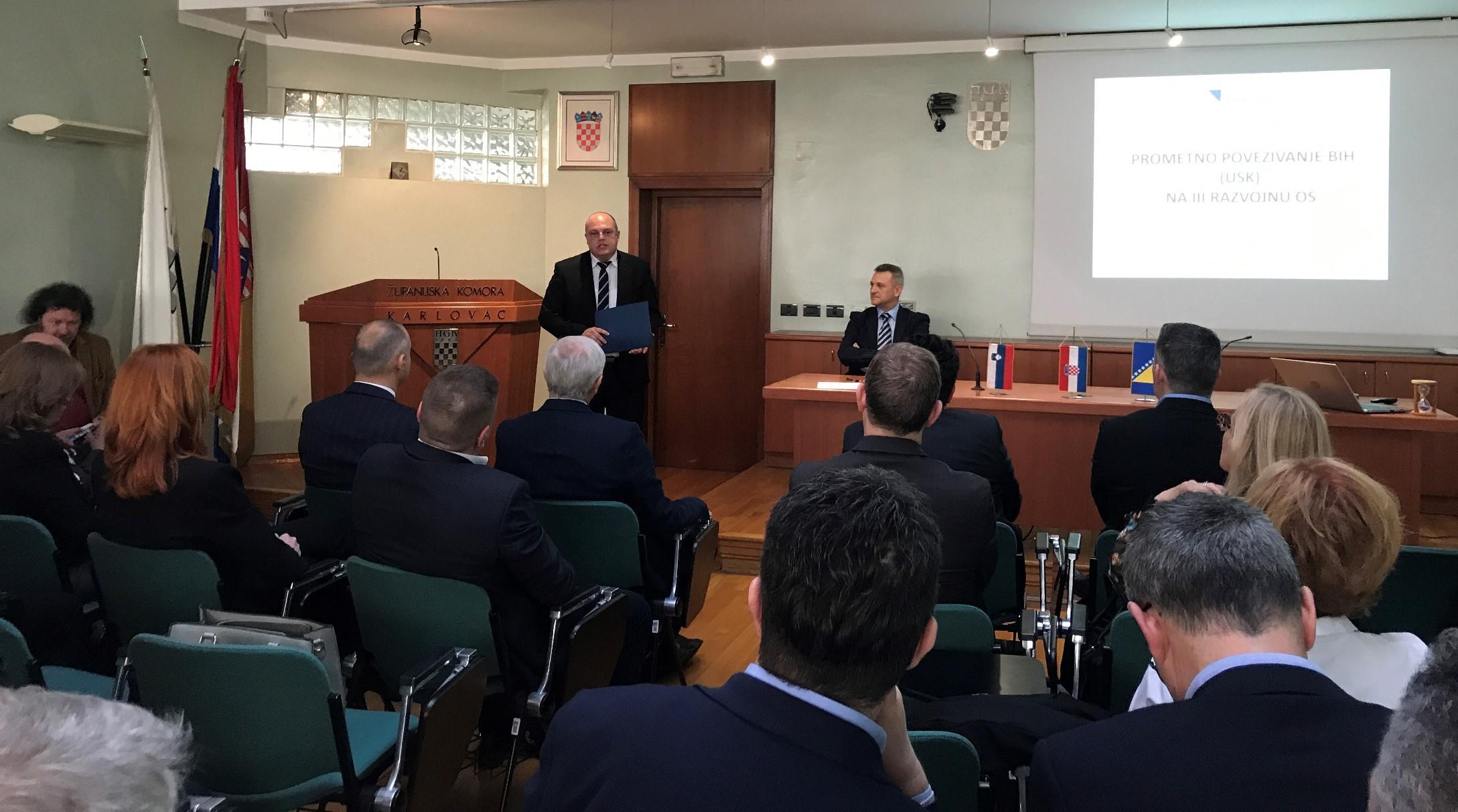 Održana 5. međunarodna konferencija na temu Razvoj cestovnog prometa na pravcu Novo mesto - Karlovac - Bihać