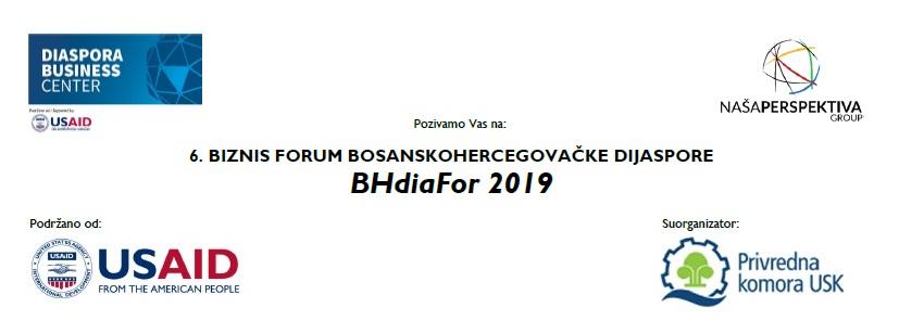 Poziv za 6. Biznis forum bosanskohercegovačke dijaspore BHdiaFor 2019 u Bihaću